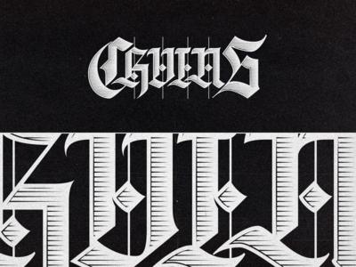 CHVINS - Gothic lettering