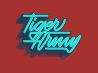 Tiger Army - Lettering