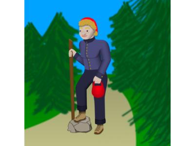 Lena on a Hike