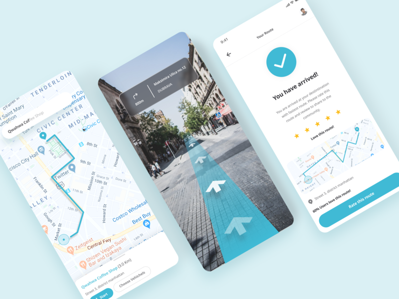 Map Exploration freelance product design designer trip exploration dailyui simplicity blue soft direction ui map