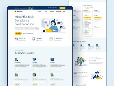 TermsHub.io - SaaS Legal document generator product deisign ui branding graphic design flat illustration clean landing page illustration saas