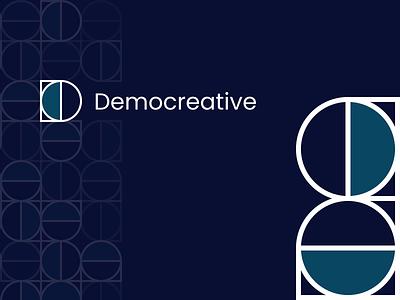 Democreative Studio - Logo graphic design branding ui clean design studio pattern logo ankara nocoded saas