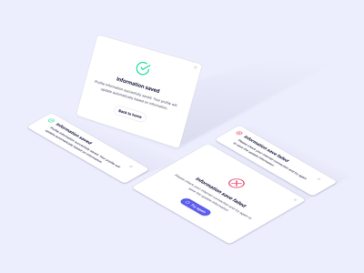 Notification on Dashboard white illustration isometric illustration dashboard clean 3d graphic design ui modal