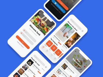 Food Mobile App UI Design.