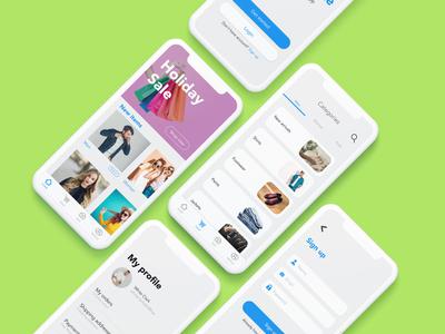 Market Place Mobile App UI Design.