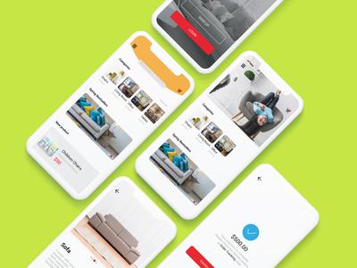 Furniture Mobile App UI Design.