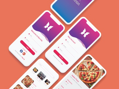 Food Mobile App UI Design.