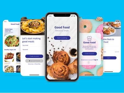 Mobile Food Application UI