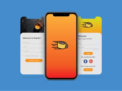 Food Mobile Application UI