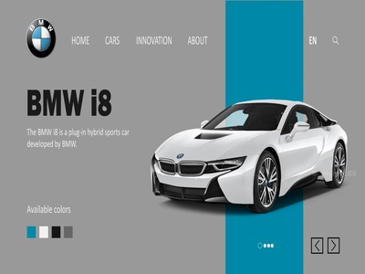 BMW homepage design