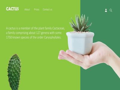 CACTUS homepage design