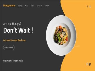 Food homepage design