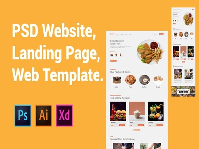 Food Website Design.