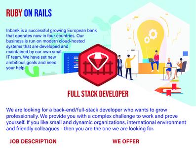 Full Stack Developer flyer.