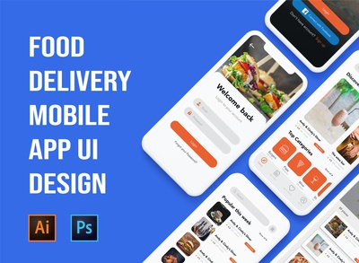 Food delivery mobile app UI design