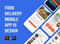 Food delivery mobile app UI design