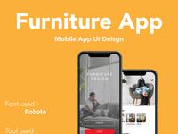 Furniture mobile app UI design
