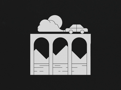 Right Side Drive car design gif vector after effects loop illustration animation