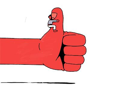 It's okay hug mane thumbsup thumb design character illustration