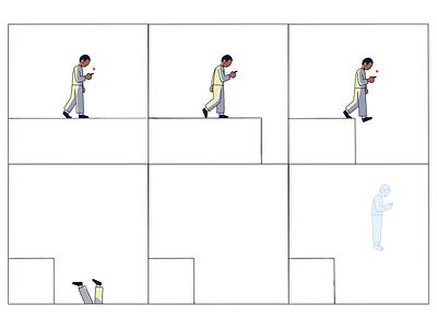 ❤️ phone character ghost walk illustration