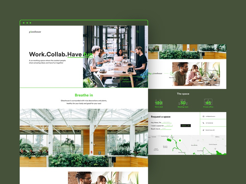 Co-working space - Landing page