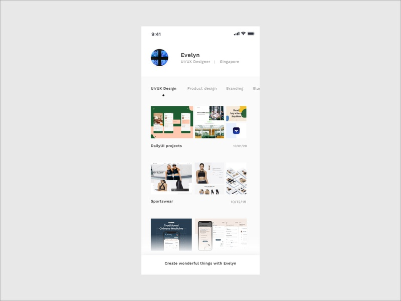 Portfolio User Profile Page