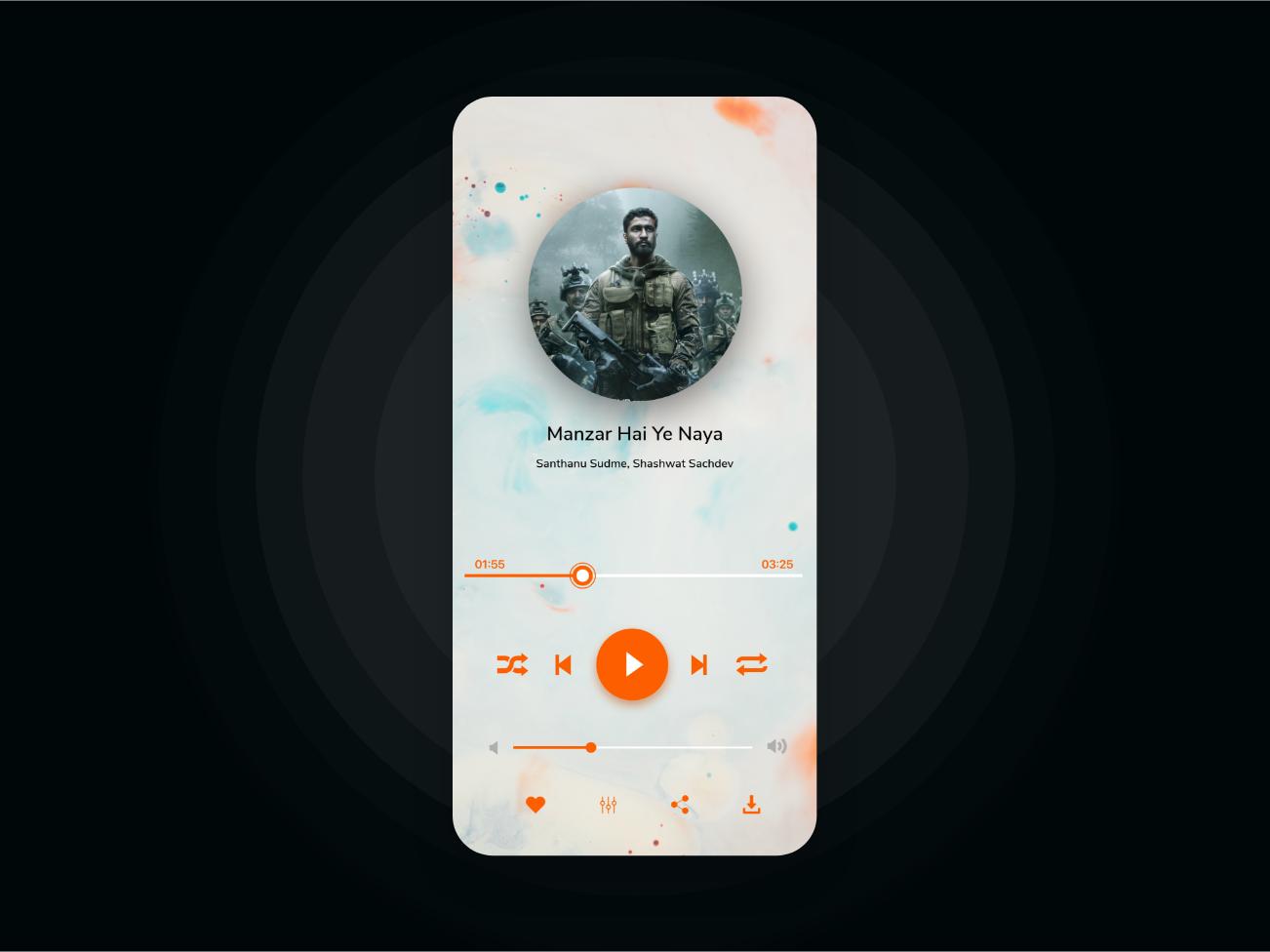 Music App - Player Screen concept design music player ios musicapp music mobileapp uidesign ui