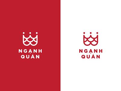 Vietnamese Seafood Restaurant | Nganh Quan Logo seafood restaurant design logo dzoan