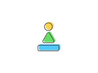 Meditation Starter Logo basic shapes branding dzoan meditation logo
