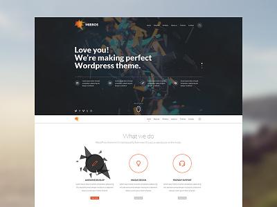 Mirros PSD Template - Dribbble Debut mirros dzoan template theme debut web design wordpress