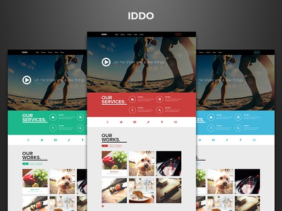 IDDO - Free PSD is coming soon. dzoan free psd iddo template theme one page