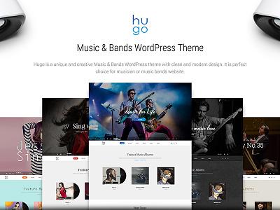 Hugo | Music & Bands WordPress Theme beautheme dzoan theme wordpress bands artist music hugo