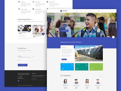 Lincoln | Homepage Demo material design homepage education psd theme school university college web design dzoan
