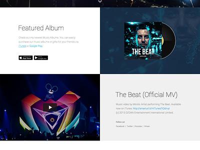 Hugo | FREE Landing Page freebie free landing page design music bands psd sketch dzoan