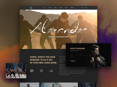 Hugo | Dancer Demo dzoan beautheme demo preview theme wordpress artist choreographer dancer band music hugo