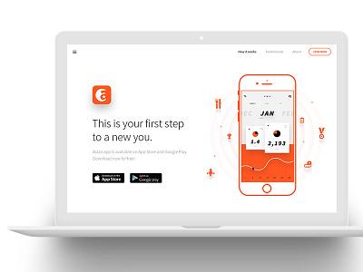 ASLAN | App Landing page website landing health app fitness gym dzoan theme wordpress aslan