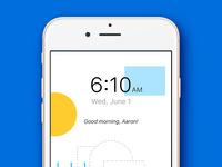 Weather Alarm concept