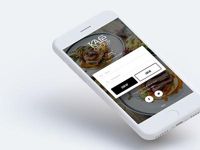 The KAfe App concept design ios concept restaurant cafe design ux ui app