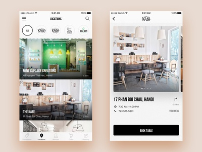 The KAfe App Concept | Locations