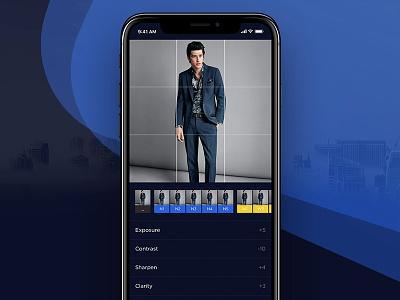 Noway UI Kit | Editing Photo Screen app design iphone x ios filter photo editing kit noway ux ui