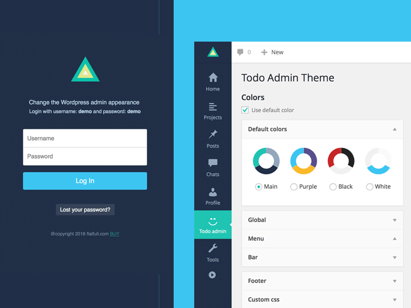 Todo - Wordpress Admin Theme by flatfull - Dribbble