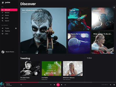 Pulse - Audio, Radio, Music Web App player music radio audio