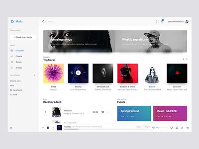 Music web application playlist player music basik