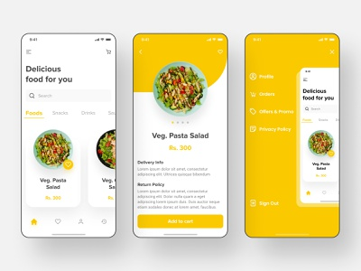 Food App mobile ui uiux mobile design minimalist mobile app mobile vetti app uiuxdesign minimal figma ux niravjoshi nirav ui vector design