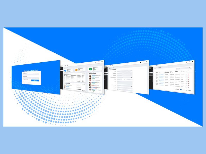 Clinic Dasboard Mockup typography branding web ux ui app icon design vector illustration