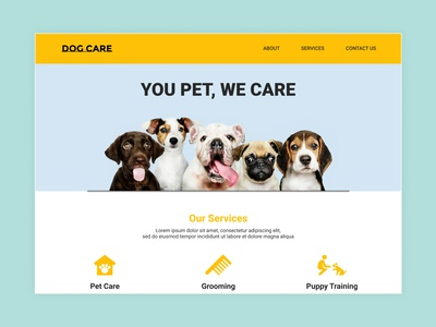 Dog Care Web