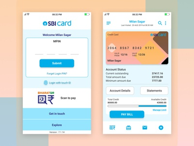 SBI Card App Redesign