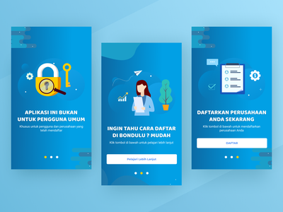 Onboarding UI Design interface illustration blue design mobile ui design onboarding app design