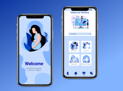 App for pregnant lady adobe uiux landingpage app design ui illustrator vector illustration ui design design