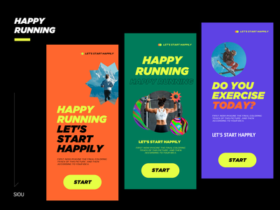 快乐的奔跑起来 typography 配色 design